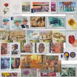 AUSTRALIA 2017 Complete set of self-adhesive stamps